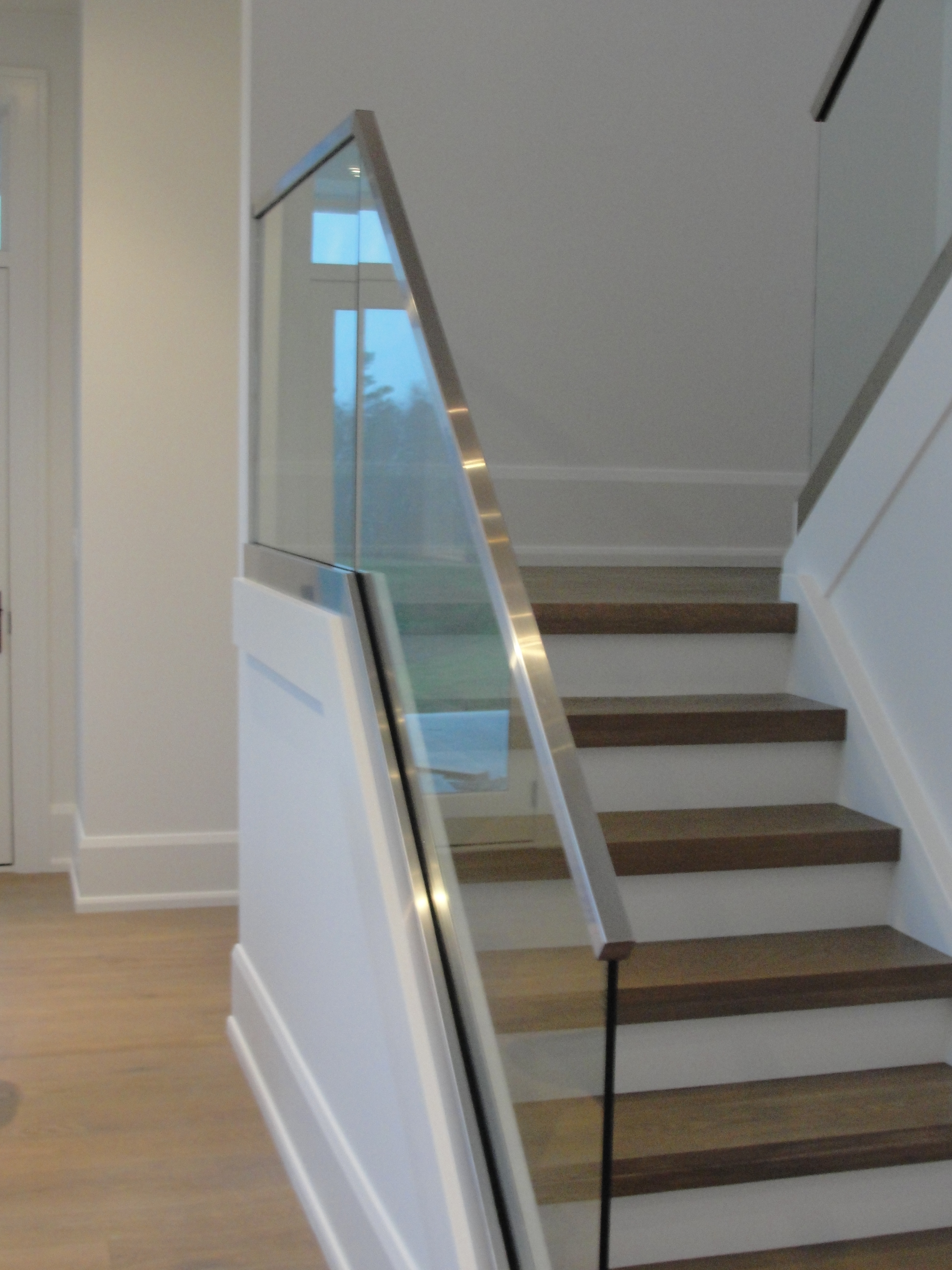 Glass Backed Stairs